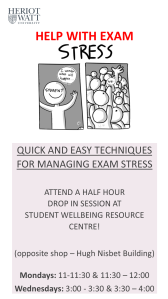 exam stress drop ins