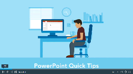 Screenshot of a PowerPoint Quick Tips course on LinkedIn Learning.