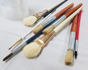 collection of paint brushes