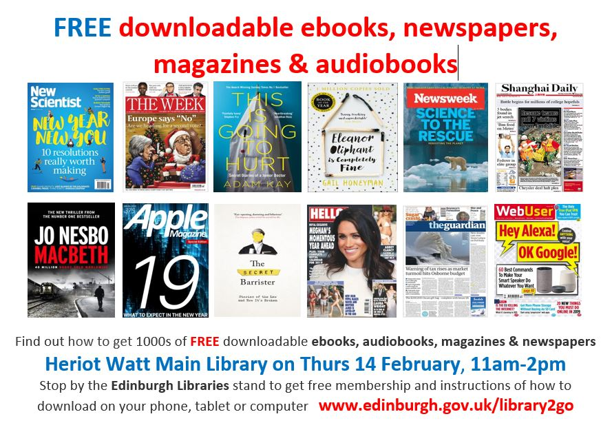 Edinburgh City Libraries 2019 Information Stall